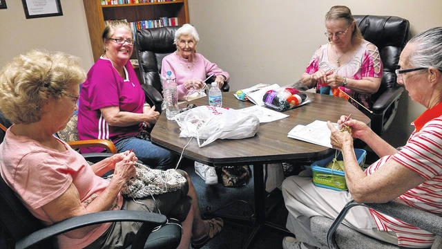 The Stitch & Chat group meets at the Huber Heights Senior Center on Tuesday afternoons. New participants are always welcome.