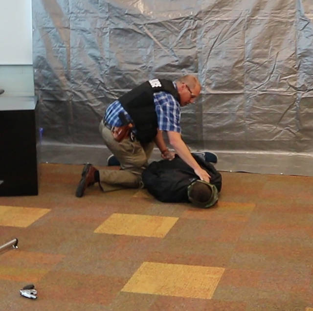 The Huber Heights Police and Fire Departments conducted safety training the week of July 9 at Wayne High School. They used different simulations to practice their response to specific scenarios.