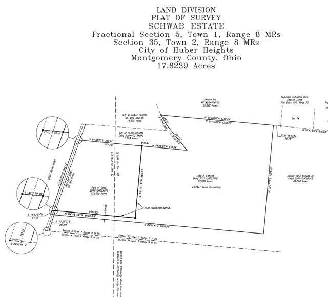 The Huber Heights City Council passed a resolution of intent to use eminent domain if needed to purchase nearly 18 acres of land of the Schwab Estate on Rip Rap Road. The land is needed for an additional well as part of the city's water softening project.