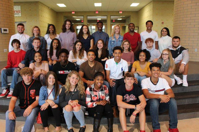 The 2018 Wayne High School Homecoming Court has been announced. Front row, left to right, Freshmen Benjamin Bochenek, Lily Claude, Taylor Burge, Sanai Lynch, Zach Bannorra, Elijah Brown; second row, left to right, Sophomores Kiara Drew, DeAndre Ham, Jaden Hurd, Brendan Hill, Jordan Byrd, Kyli Gainer; third row, left to right, Juniors Brenden Lawson, Matt Sexton, Amiya Drew, Dezirae Dodd, Gabrielle Crossman, Autumn Conners, Kaleb Stines, Jacob Padilla; and back row, left to right, Seniors Matteo Rivas, Emma Baird, Nevaeh Brassfield, Nathan Klarer, Mileena Raglin, Justin Harris, Alexis Smith, Jordon Long, Rashad McKee, and Tylar Harmon.