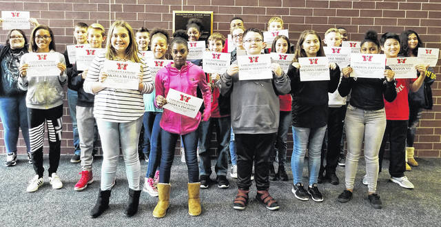Congratulations to the Weisenborn Junior High School Students of the Month for October: Justice Appleberry, Kazden Ault, Stephanie Bochenek, Kye Burns, Gideon Crossman, Crystal Daniel, Enna Eastman, Rheanna Gabbard, Gavin Howard, Indiya Ingram, Vondeia Johnson, Ariana Kinney, RJ Mukes, Makayla Mullins, Cole Neely, Vanessa Ortiz, Eriana Reed, Andrew Sidenstick, Evan Sullenberger, Kenton Vo, George Wijbrandus, and Raelyn Woody.