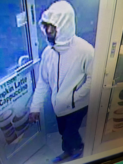 Huber Heights Police are seeking the identity of this man suspected in the robbery of the Speedway on Chambersburg Road. The robbery occurred early Monday morning.