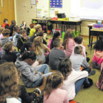 Hayes reads to Valley Forge students