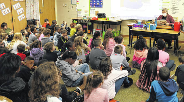 "Valley Forge Elementary welcomed author Judy Hayes to read her book, ""Randolph the Green-Nosed Reindeer,"" to third graders. The book is about how students can get involved and make a difference in the environment."