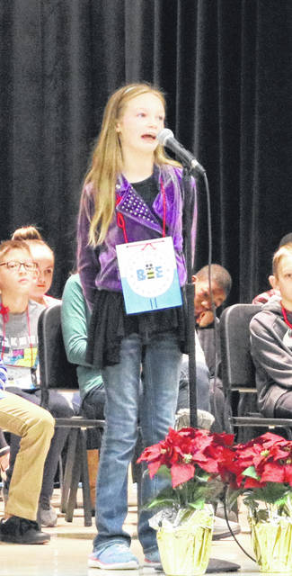 Autumn Rose was the champion of the Charles Huber Elementary Spelling Bee.