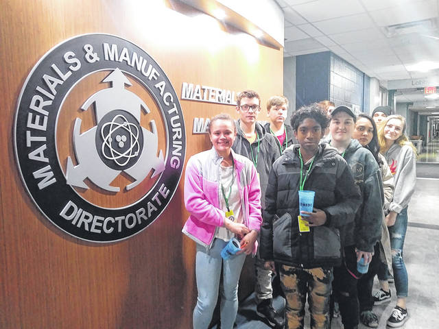 Wayne High School's science club recently visited the Air Force Research Laboratory at Wright-Patterson AFB. They learned how to use different types of electron microscopes.