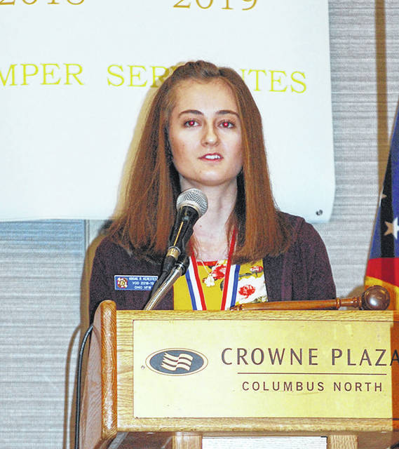 Wayne High School senior Abigail Kerestes was recently named the state-wide winner of the Veterans of Foreign Wars (VFW) Voice of Democracy winner.
