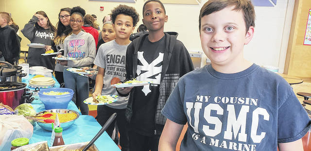 Monticello Elementary had a Taco Reward Party for sixth grade students. Parents volunteered, sixth grade teachers cooked, and the students had a feast and then played games.