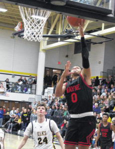 Elks defeat Wayne to earn share of title