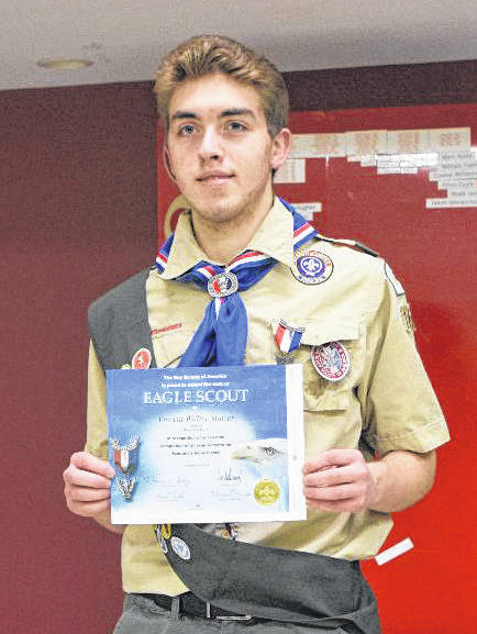 Wayne High School senior Vincent Statzer recently earned Scouting's highest medal, Eagle Scout.