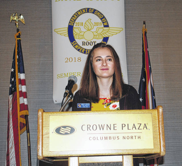 Wayne High School senior Abigail Kerestes was the state winner of the VFW Voices of Democracy competition and placed 11th overall in the national competition.
