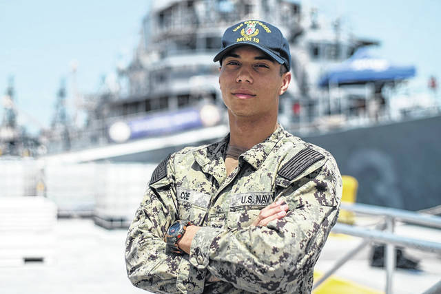 <strong>Noah Coe, a 2016 graduate of Wayne High School, is a mineman aboard the Manama, Bahrain-based ship, one of four MCMs forward-deployed to the Arabian Gulf in the Navy's U.S. 5th Fleet operating under Task Force 52.</strong>