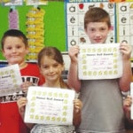 First graders recognized