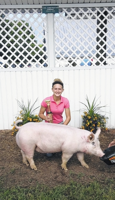Annie Springer, Grand Champion Scramble Pig, county fair