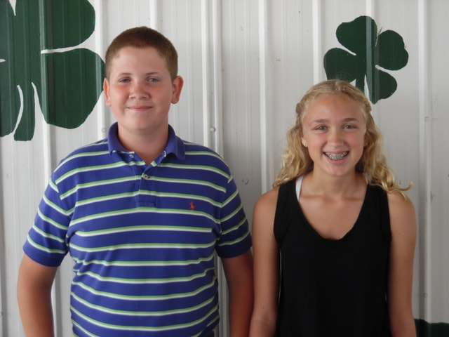 Bryant Crisler-1st Place Intermediate Level 4-H Cook-Off; Aislen Setty-2nd Place Intermediate Level 4-H Cook-Off