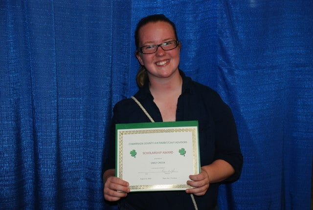 Emily Crook, Scholarship Winner