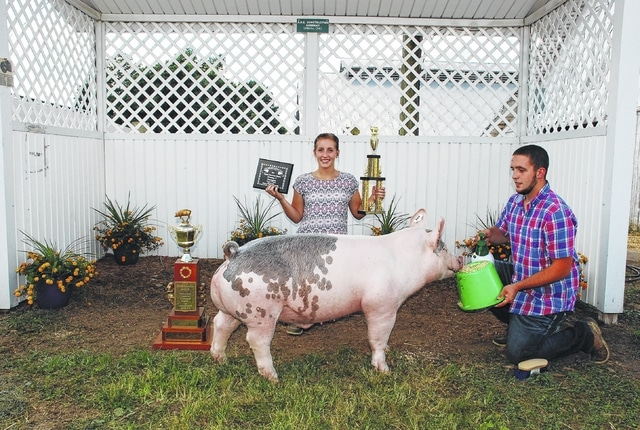 Miranda Lauchard, Grand Champion Open Class Barrow