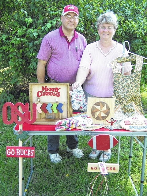 For the past 25 years, Doug and Katha Dill and their children have collaborated to create wood carving, intarsia, stained glass artifacts, needlework and furniture for Oktoberfest.