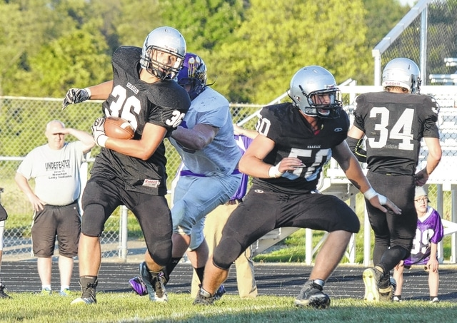Graham's Stephen Dunham (36) has been a big part of the balanced approach offensively for the Falcons.