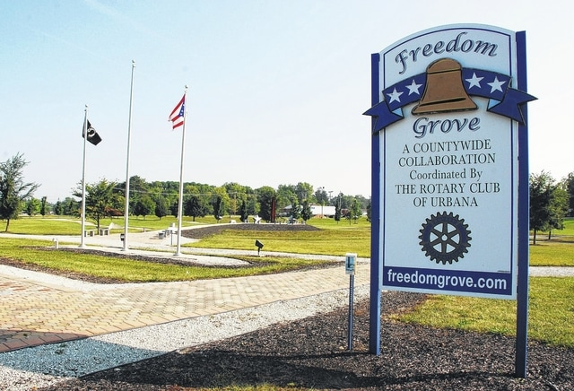 Beginning Thursday evening and running through Sunday afternoon, the Ohio Flags of Honor Memorial, which features roughly 750-plus 3-by-5 American flags, will be on display at Freedom Grove Park in Urbana.