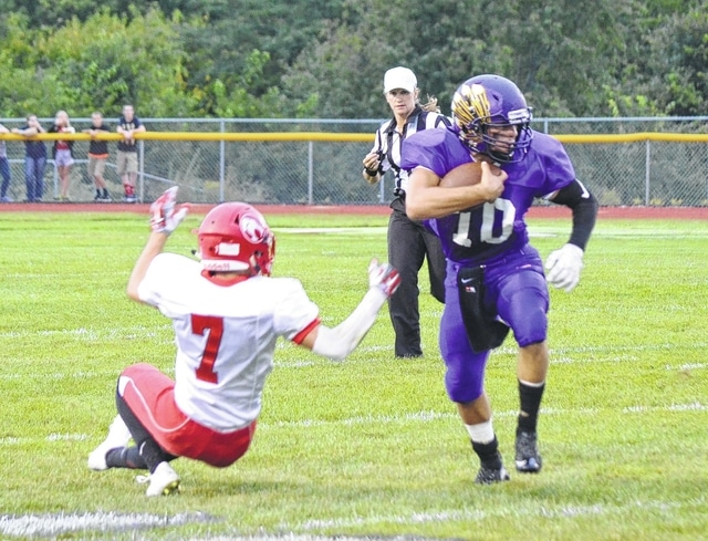 Mechanicsburg's Kaleb Romero ran over, around and through the Fairbanks defense Friday and Saturday en route to an MHS single-game yardage record.