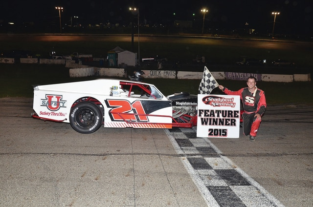 Greg Stapleton (pictured) was the modified winner at Shady Bowl Speedway last week. This Saturday will be the Roush Family Classic Night at Shady Bowl with racing starting at 7 p.m.