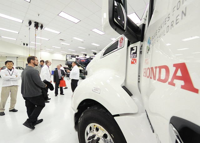American Honda announces its opening of a second public compressed natural gas refueling station at its parts distribution center Wednesday in Troy.