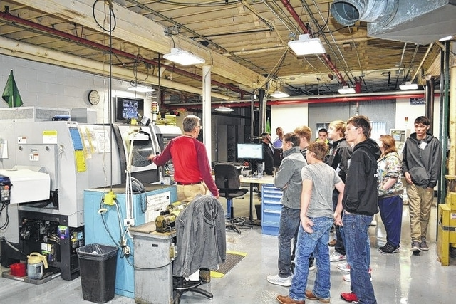 Honeywell Aerospace's North Russell Street facilities were among stops for 40 Triad High School students on Friday, Oct. 2. The tours, which included a stop at the company's state Route 55 plant, were held in recognition of national Manufacturing Day.