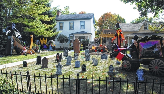 "The homeowners at 319 E. Water St. in Urbana call their Halloween display ""The Craig's Halloween Haunt."" This is one of the more abundantly decorated yards in Urbana this time of year, although many others are adorned with pumpkins, scary characters and others signs of the season."
