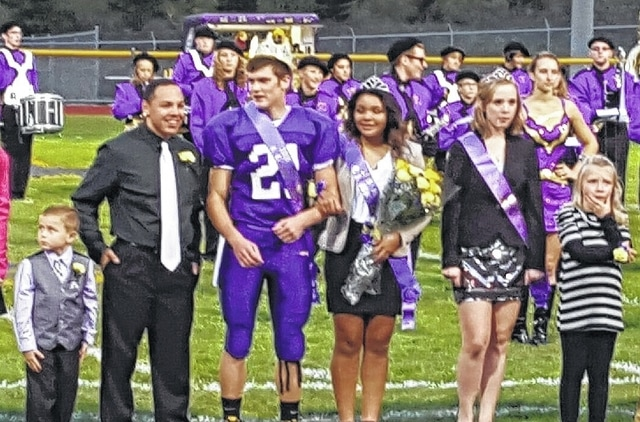 Mechanicsburg crowned Phil Cook and Chayna Sanford as its 2015 Homecoming King and Queen during Friday night's game.