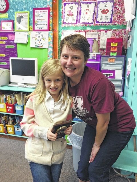 Urbana North Student of the Month first grader Cheyenne Russell with teacher McCall-Fasse