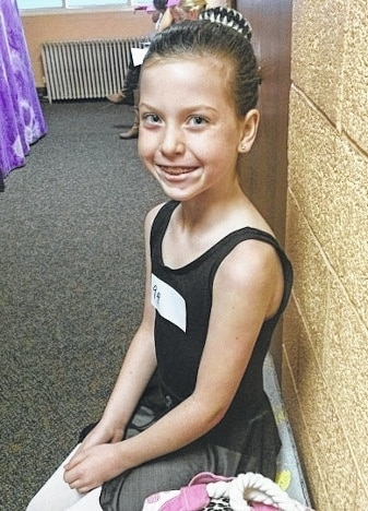 One of the performers in this year's Nutcracker ballet is Urbana resident Ava Chamberlain. She will be in the party dance as a mouse and a lollipop.