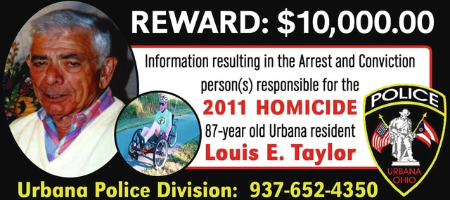 Pictured is an example of billboards the Urbana Police Division has had placed along U.S. Route 68 between Urbana and Springfield as their investigation into the 2011 death of Louis Taylor continues. Urbana Police Chief Matt Lingrell states the division hopes the billboards will catch the attention of people who may have information to share with them regarding the homicide case.