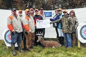 Urbana University's Shooting Sports Club received a donation from Whitetails Unlimited. Accepting the check are students from Urbana University Shooting Sports Club. Pictured are Co-Chair Scott Workman, Wayne Headings, Chairman Keith McNutt, Seth Collier of Urbana University, Peng Cheng Yao of Urbana University, Eric Woodruff, Becky McNutt, Dandan Chen of Urbana University, Silas Augsburger of Urbana University, and Sallie Workman. Committee members not pictured include Darin Fairchild and Adam Bailey.