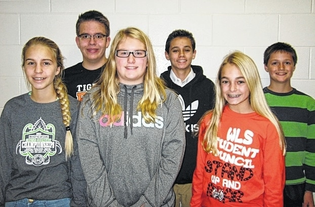 West Liberty-Salem Middle School's December Students of the Month are 8th graders Lydia Moell and Michael Farquharson, 7th graders Kaleigh Wilcox and Drew Hardwick and 6th graders Megan Adams and Gavin Schoenleben.