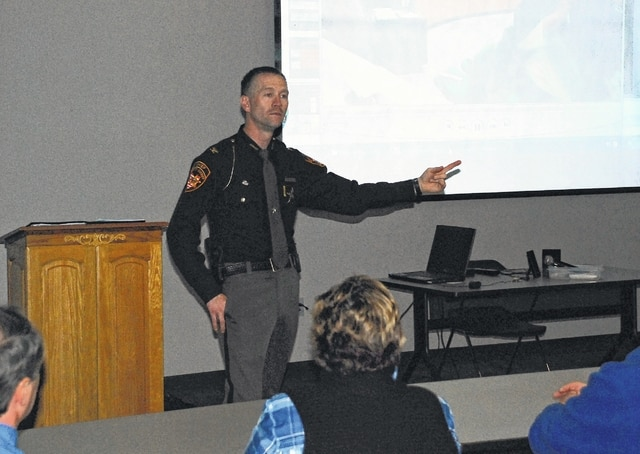 Chief Deputy Sheriff Rick Jordan speaks to Champaign County and city of Urbana employees on Thursday during an ALICE training session held at the county Community Center on South U.S. Route 68. The training focused on how to survive an active shooter situation.