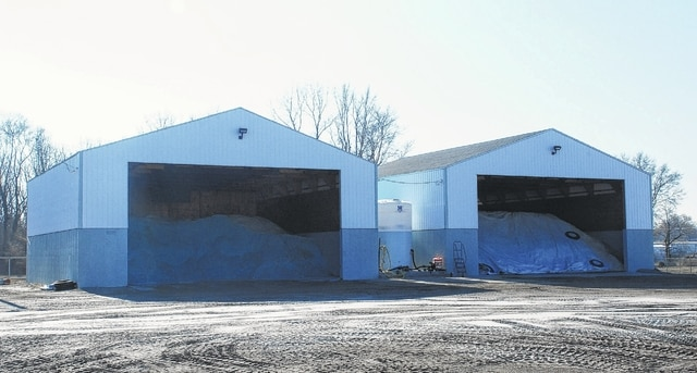 Pictured are two well-stocked salt barns located at the Champaign County Enigneer's office at 428 Beech St. in Urbana. Unseasonably warm temperatures thus far this winter have left city, county and state road salt supplies virtually untouched when compared to the previous two winters.