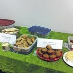 Sample soup, bread to help the library