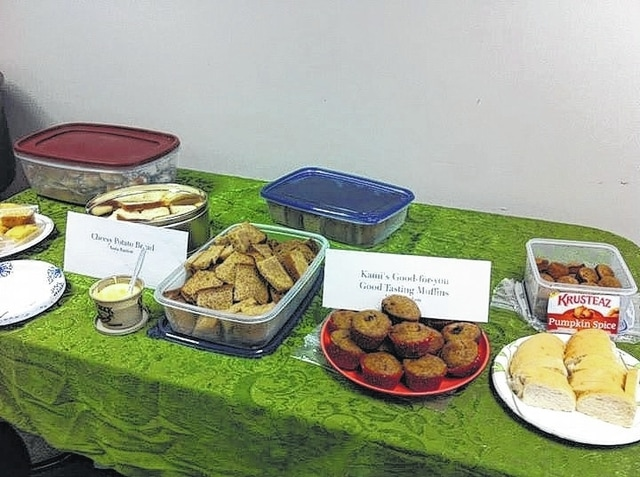 Several types of bread were baked for last year's Friends of the Champaign County Library Soup and Bread Tasting event held at the county library, 1060 Scioto St. in Urbana, as shown here. This year's event also promises a variety of breads and soups.