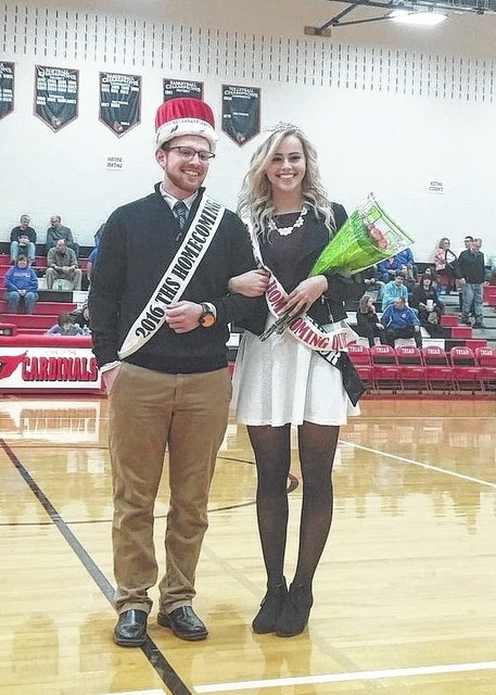 Triad's Zack Moore and Allyssa Eaton were named Triad's winter homecoming king and queen during Friday night's ceremonies at Triad High School.