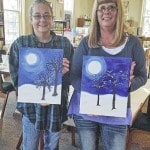 Visitors learn to paint at North Lewisburg library