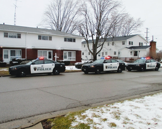 The Urbana Police Division served a drug search warrant at an apartment located at 986 Terry Lane Thursday. Two people were arrested as police recovered evidence of drugs during their search.