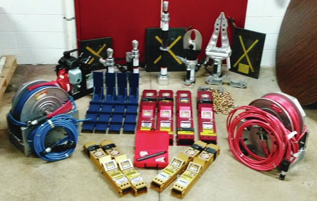 Pictured are multiple items the Urbana Fire Division is implementing as part of their rescue services. Funding for the tools were provided through an Assistance to Firefighters Grant from the Department of Homeland Security.