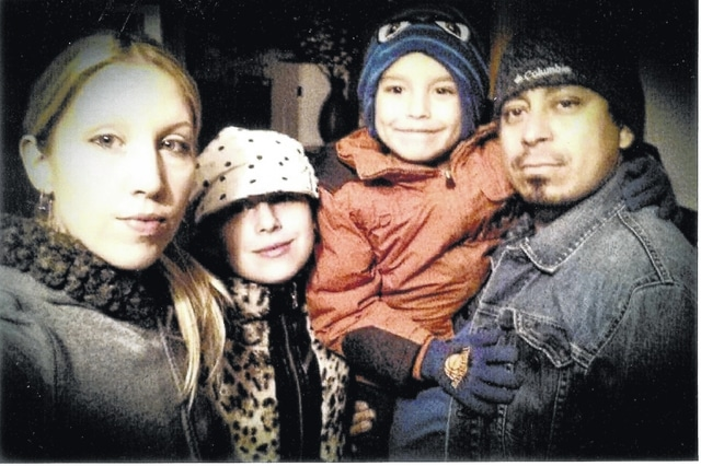 The April and Julio Rodriguez family