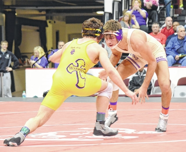 Junior Kaleb Romero (pictured), a two-time individual state champion for Mechanicsburg, will be a major factor in his team's chances at the state team duals on Sunday.