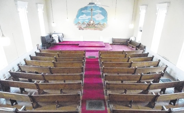 This photo of the oldest church santuary in Mechanicsburg was taken from the choir loft inside the Second Baptist Church at 43 E. Sandusky St.
