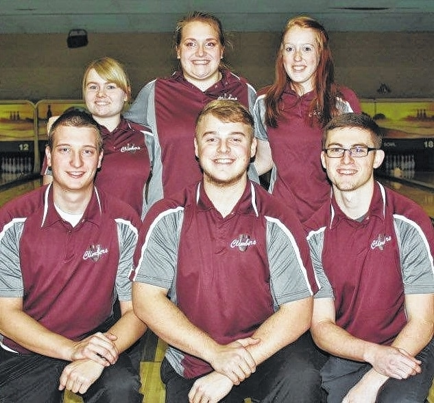 The 2016 Urbana High School senior bowlers' accomplishments on the lanes are too many to list, so here are their names and plans after graduation. Starting from the left kneeling: Kyle Schrader will attend the Clark State Fire Academy, EMT and Paramedic programs; Skyler Reisinger will attend Wright State and is undecided and plans to bowl for the Raiders; Blaine Arms will attend Urbana University in the Law Enforcement program and will bowl for the Knights. Back row from the left: Brittany Gaver will attend Clark State for Library Sciences; Paige Stokes will attend Urbana University to study Psychology and bowl for the Lady Knights; Myea Ogden plans to attend college and is undecided on the school and course study.