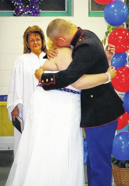 Shania and Pvt. Zachary Lamoureux