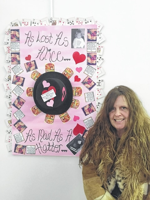 "Pamela Bowshier is a bread baker and owner of Cosmic Charlie Breads & Threads. She is co-chair of Art Affair on the Square and manager of several local farmers' markets. Her artwork is entitled, ""Feed Your Head,"" a combination of music, fun and a journey through life."