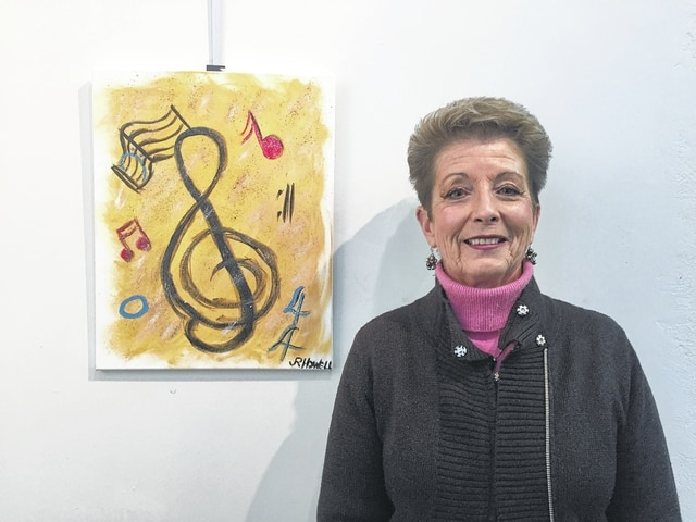Jacquelyn Howell is a retired music teacher who now directs the Urbana United Methodist Church Choir and the Urbana Champaign County Senior Center's Guys and Dolls. She also enjoys golfing. Her art displays her lifelong commitment to music.